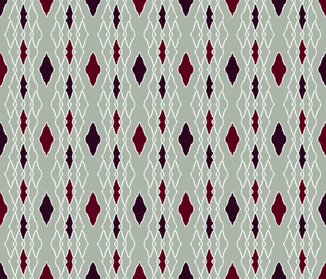 elegant dark red diamonds fabric by variable on Spoonflower - custom fabric