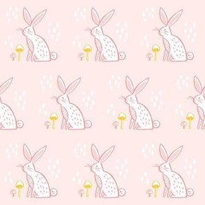 Woodland Rabbit- Pink and Yellow