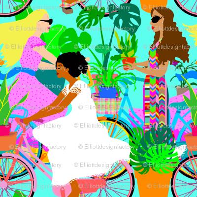 Botanical Boho Bicycle Babes