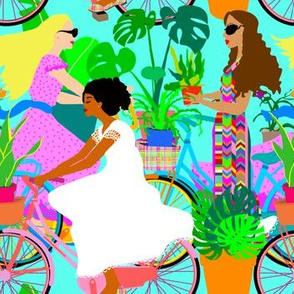 Botanical Boho Bicycle Babes