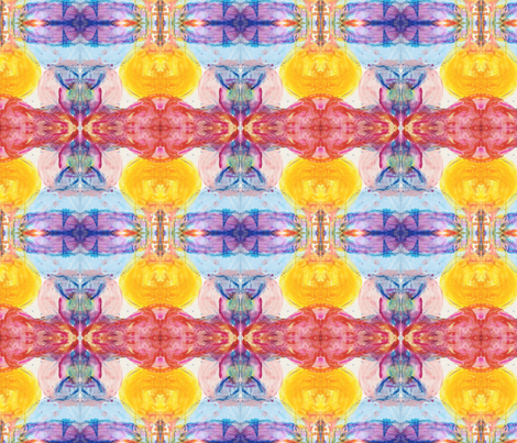 Here Comes The Sun cropped fabric by the_turquoise_iris on Spoonflower - custom fabric