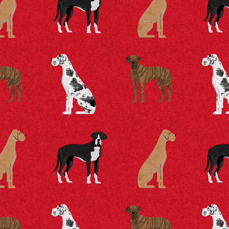great dane mixed coats pet quilt a collection coordinate fabric by petfriendly on Spoonflower - custom fabric