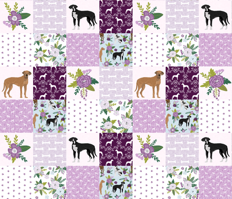 great dane mixed coats pet quilt c cheater wholecloth fabric by petfriendly on Spoonflower - custom fabric