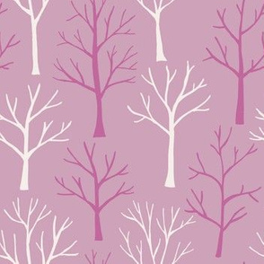 Trees in Winter - pink