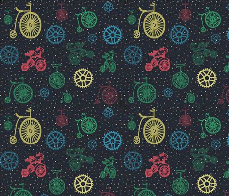 Dotty Bikes fabric by lkm3s on Spoonflower - custom fabric