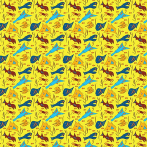Crazy Fish - Yellow - Small