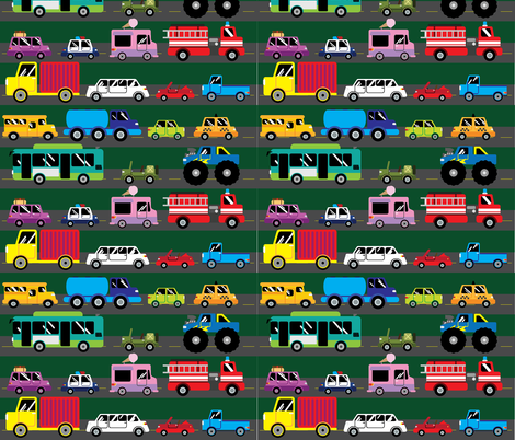 Always on the Go fabric by wepop on Spoonflower - custom fabric