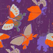 Butterflies on violet