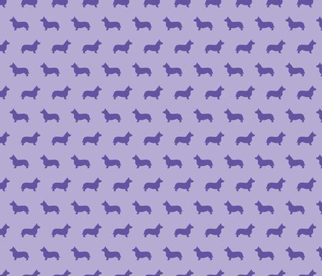 Corgi Silhouette Violet fabric by mariafaithgarcia on Spoonflower - custom fabric
