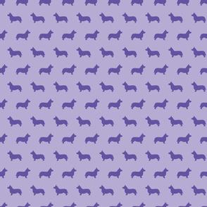 Corgi Silhouette Violet