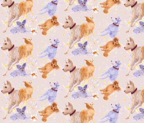 Friendly Dogs fabric by nancy_lee_moran_designs on Spoonflower - custom fabric