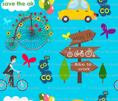 Save-the-air-ride-a-bike-