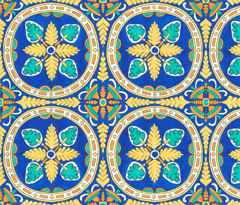MARRAKESH TILE STYLE fabric by heckadoodledo on Spoonflower - custom fabric