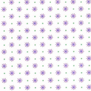 Lavender Daisy on White