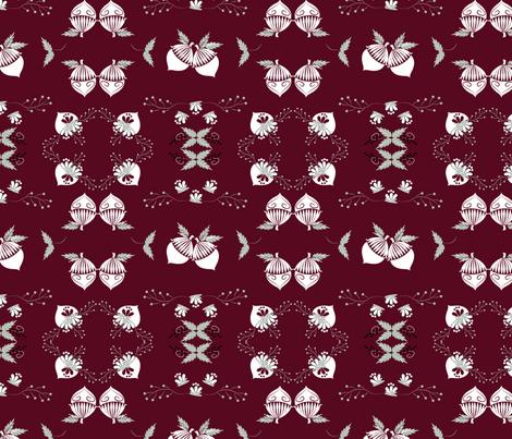 Elegant Acorns fabric by applebutterpattycake on Spoonflower - custom fabric