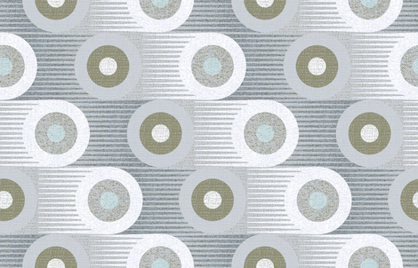 Moving too fast -jumbo large scale circles 60s 70s fabric by ottomanbrim on Spoonflower - custom fabric