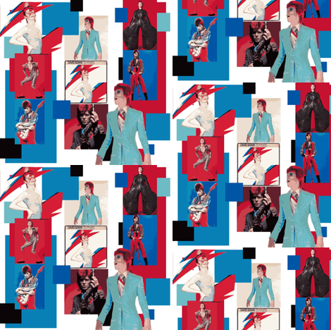 David Bowie 2  fabric by phatcatpatch on Spoonflower - custom fabric