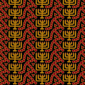 Menorah black
