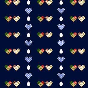 Pixel Chickens Navy