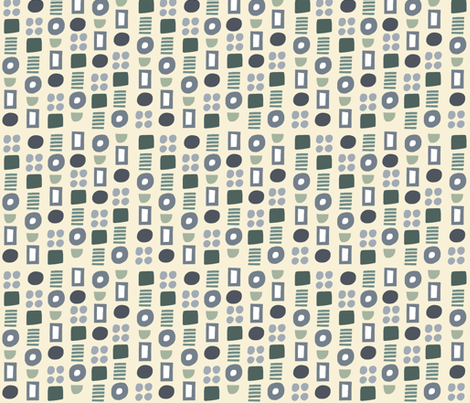 Green Geometric fabric by kimmurton on Spoonflower - custom fabric