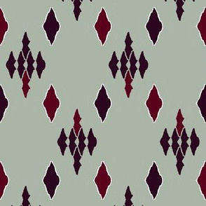red diamonds on a greenish gray