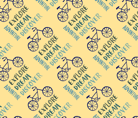Bike Adventure fabric by elizabethmay on Spoonflower - custom fabric