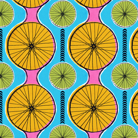 Cycling in the sun fabric by ruth_robson on Spoonflower - custom fabric
