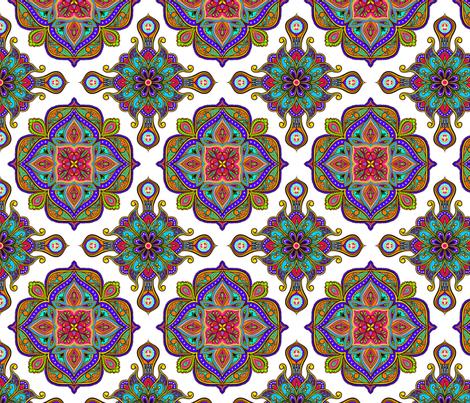 Colorful Tile 100 fabric by jadegordon on Spoonflower - custom fabric