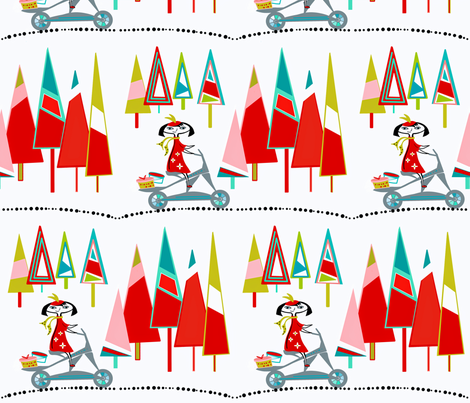Hat Shop Girl sewindigo fabric by sewindigo on Spoonflower - custom fabric
