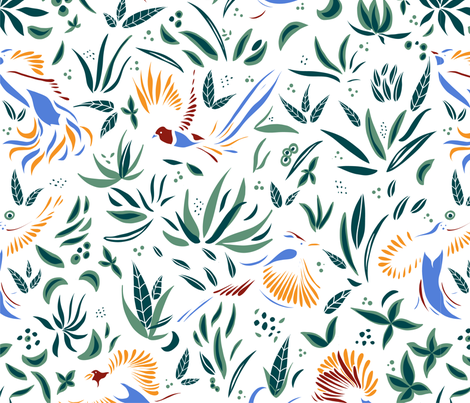 Magic wings and tails fabric by agathests on Spoonflower - custom fabric