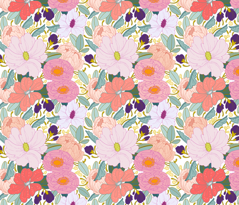 Full Floral fabric by paperravenco on Spoonflower - custom fabric