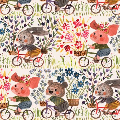 Flower delivery fabric by potyautas on Spoonflower - custom fabric
