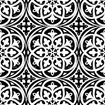 Moroccan Lattice Black and White