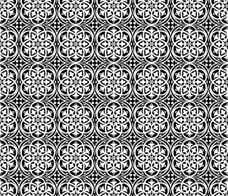 Moroccan Lattice Black and White fabric by delinda_graphic_studio on Spoonflower - custom fabric