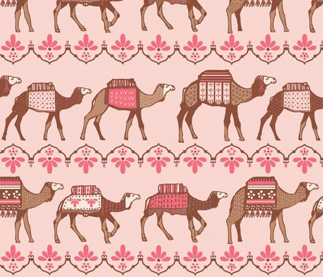 Rmarrakesh_camels_in_a_line_pink_and_brown_shop_preview