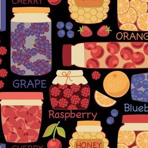 Honey, Jam, and Berries: Black