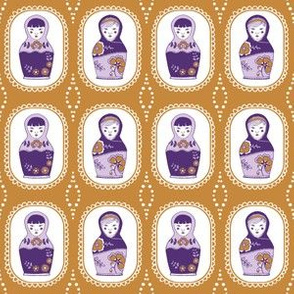 matryoshka dolls  // mustard // little matryoshka collection
