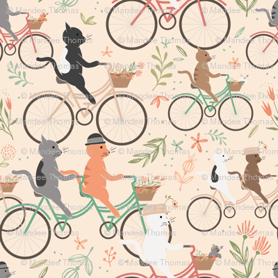 Cycling Cats in Spring