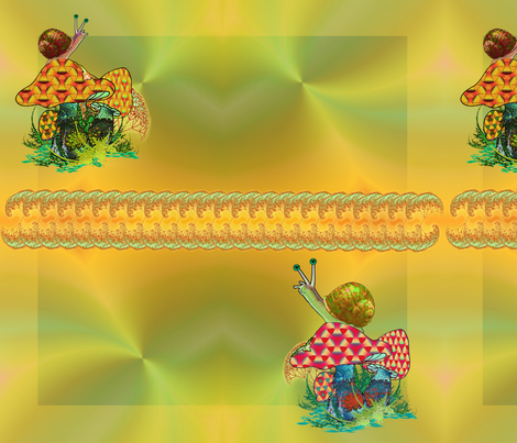 Hungry snails4 fabric by snarets on Spoonflower - custom fabric