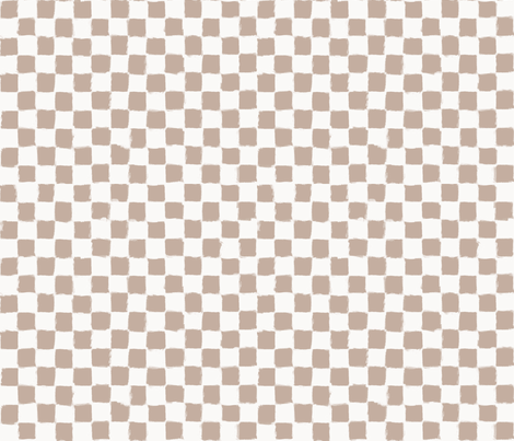 Checker Strokes Nude on White fabric by form_creative on Spoonflower - custom fabric