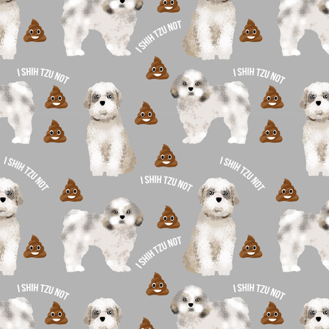 shih tzu poop 3 fabric by petfriendly on Spoonflower - custom fabric