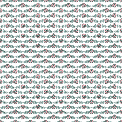 ditsy flowers // mint // little matryoshka collection fabric by modeern on Spoonflower - custom fabric