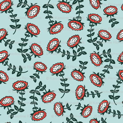 sunflowers // green-red // little matryoshka collection