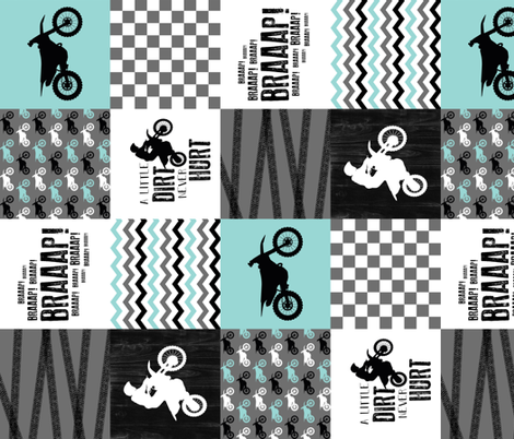 4.5 inch Motocross//A little dirt Never Hurt - wholecloth Cheater Quilt - Rotated  fabric by longdogcustomdesigns on Spoonflower - custom fabric