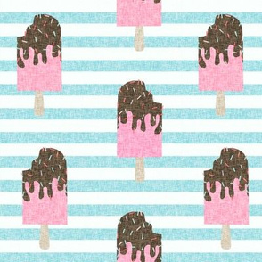 popsicle chocolate summer food blue stripes