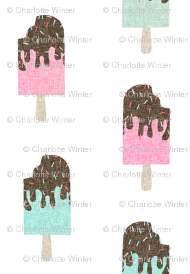 popsicle chocolate summer food mint pink