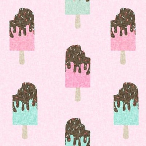 popsicle chocolate summer food pink