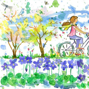 Lily and Tulip Biking