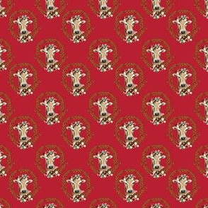 "1.5"" Floral Cow - Red"