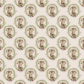 "1.5"" Floral Cow - Taupe"